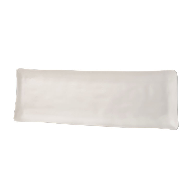 Bílý sashimi talíř MODERN 33 x 11 cm