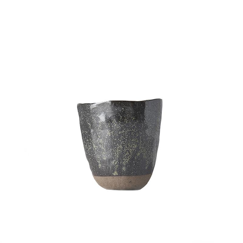 Hrnek bez ucha s nepravidelným okrajem Tea Cup hnědý 300 ml