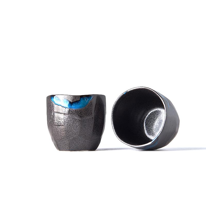 Hrnek bez ucha s nepravidelným okrajem Tea Cup černý 280 ml