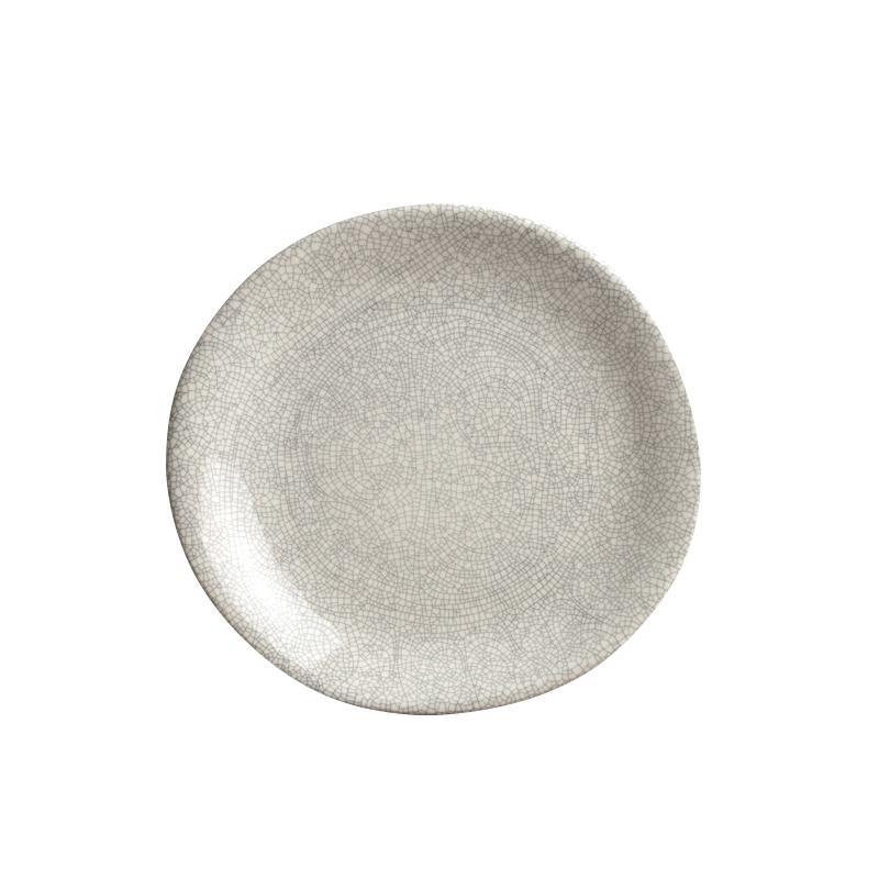 Velký mělký talíř 25 cm bílo-šedý