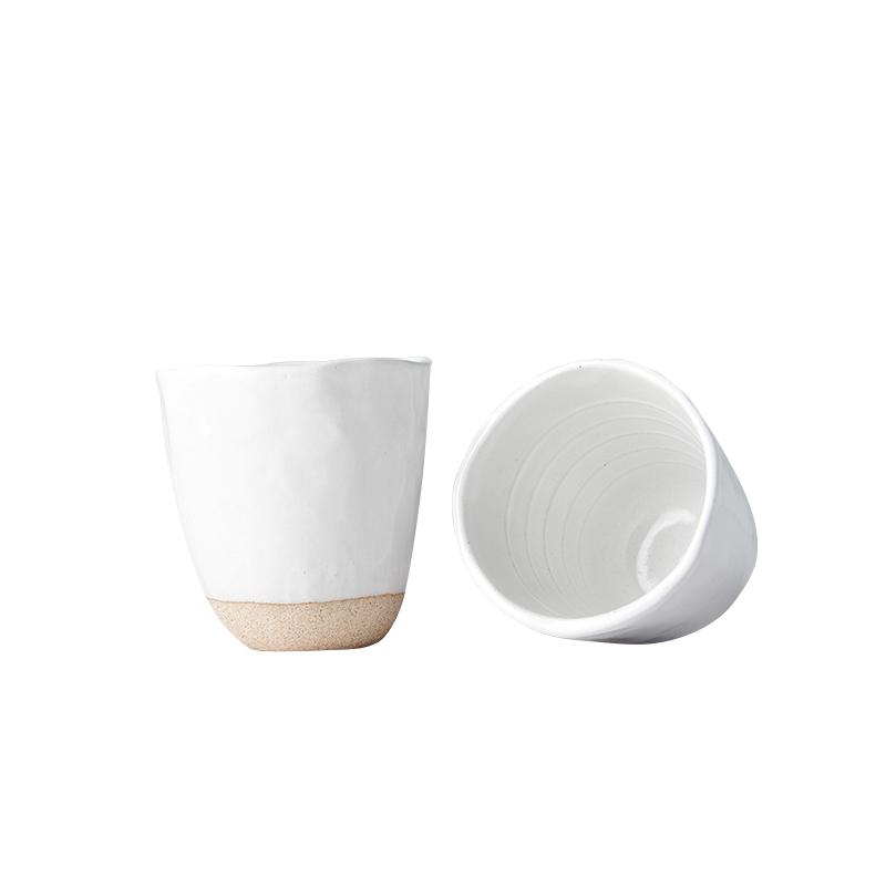 Hrnek bez ucha s nepravidelným okrajem Tea Cup bílý 300 ml