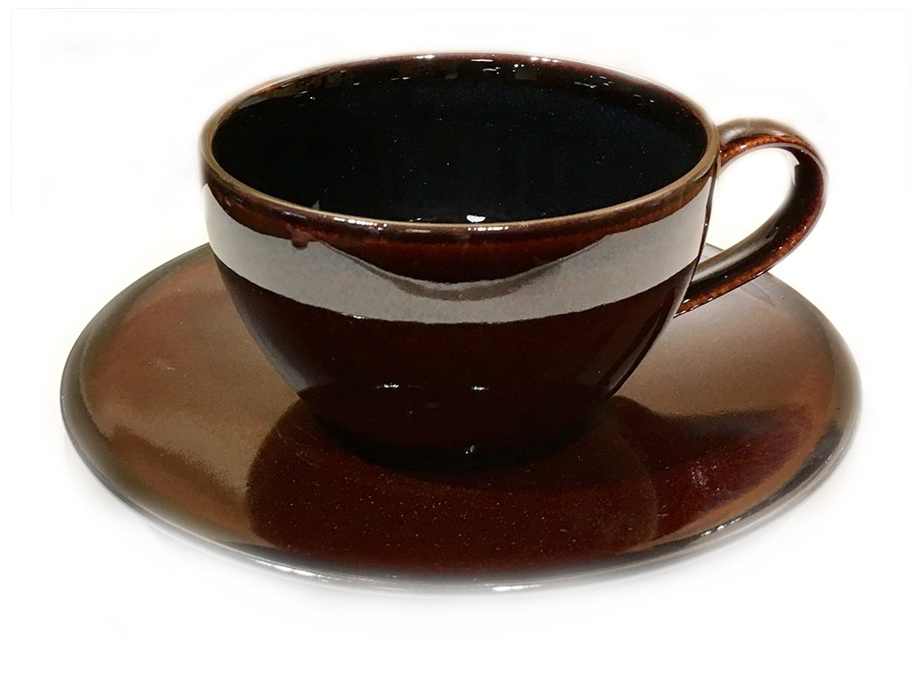 Cup with saucer set MIKASA toffee