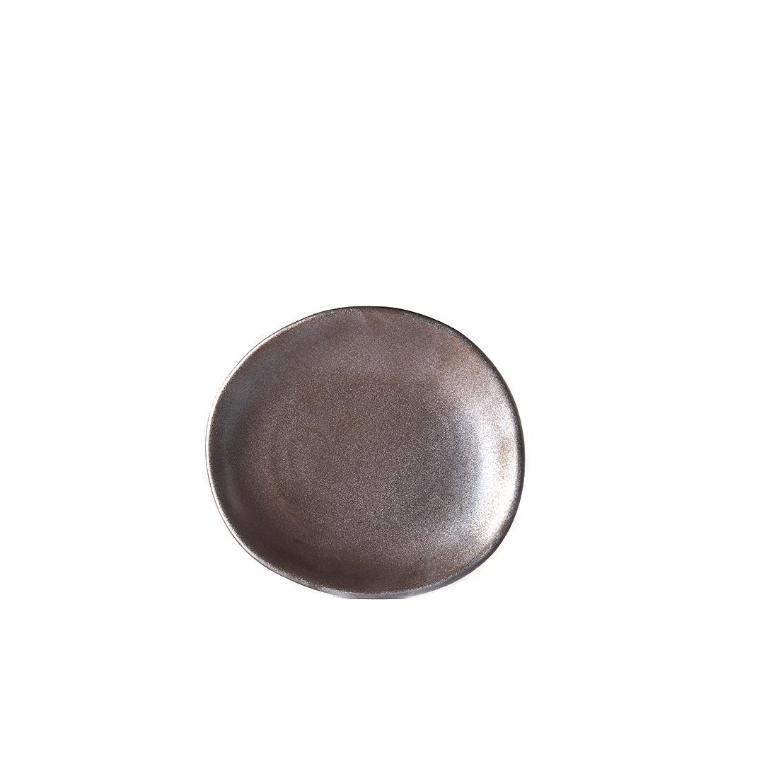 Mělký talíř Modern 17 cm metalický