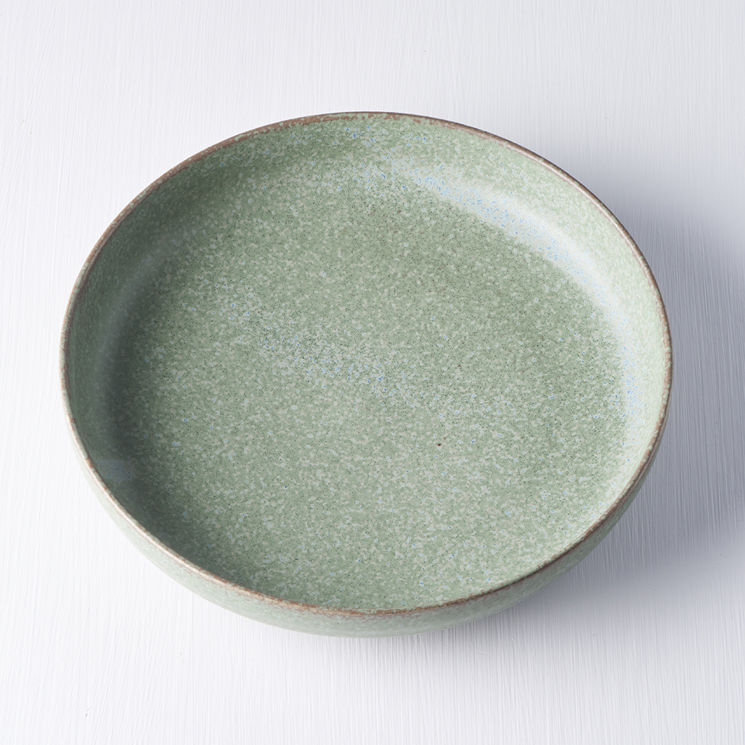 Green Fade Plate with High Rim 20 cm