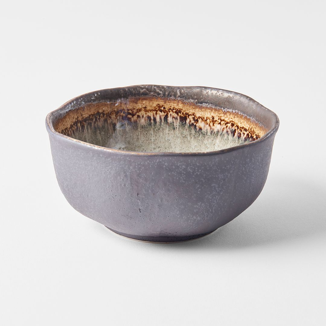 Akane Grey Irregular Bowl 15 cm