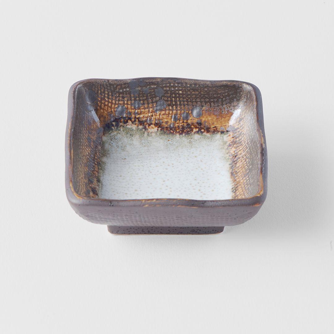 Akane Grey Square Sauce Dish 7 cm