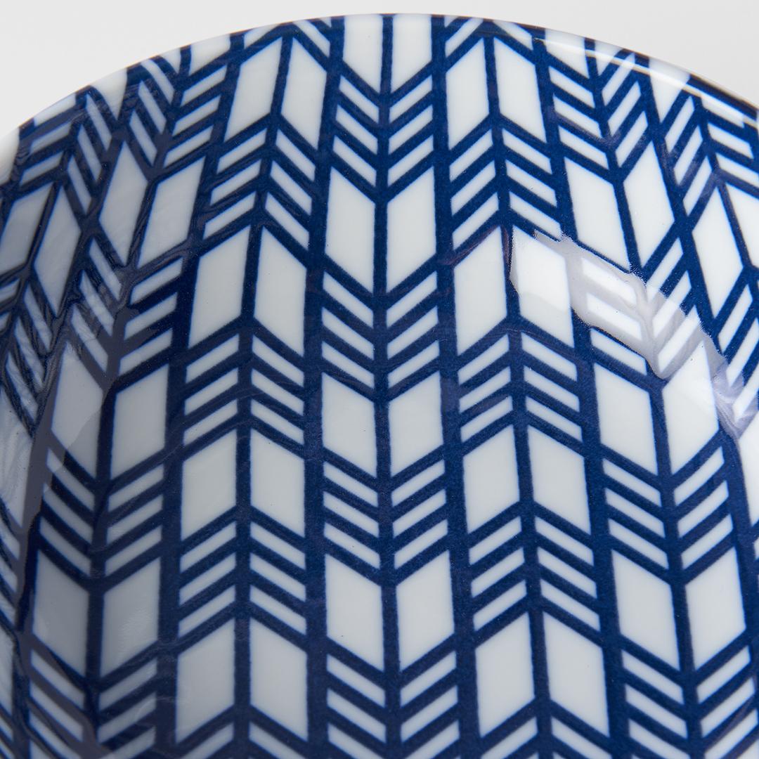 Blue & White Feather Design Bowl 16 cm