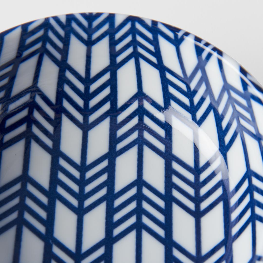 Blue & White Feather Design Bowl 13 cm
