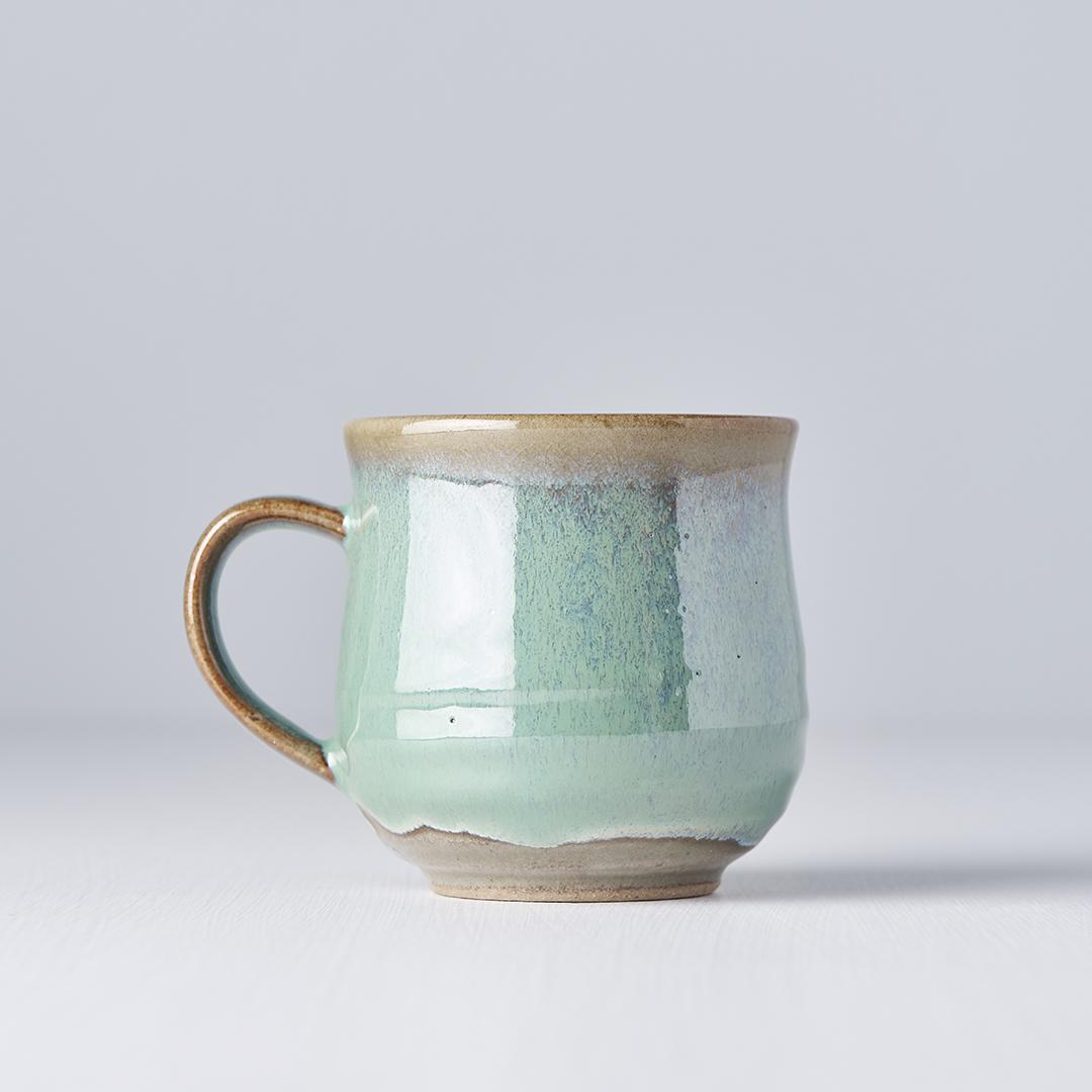 Bright Green Mug with Handle